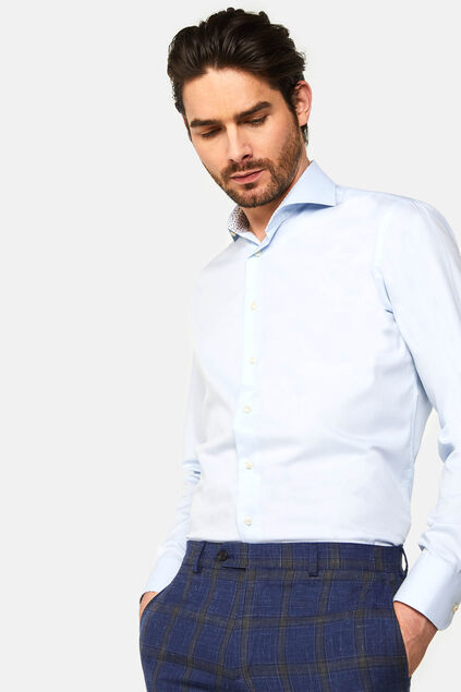Chemise slim fit Amadeo homme Bleu eclair
