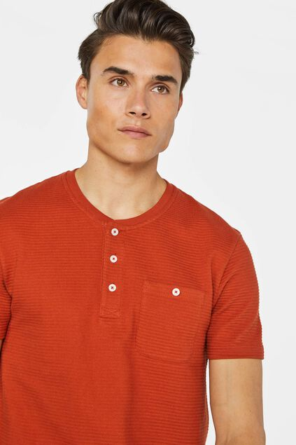 T-shirt à structure homme Orange
