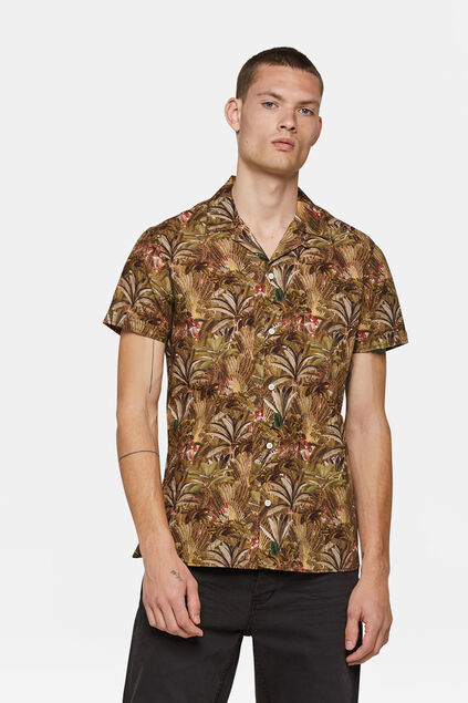 Chemise relaxed fit à motif homme Vert