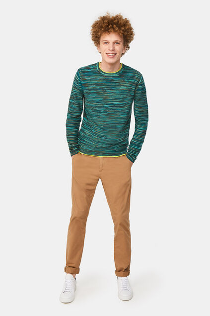 Pull chiné homme Vert