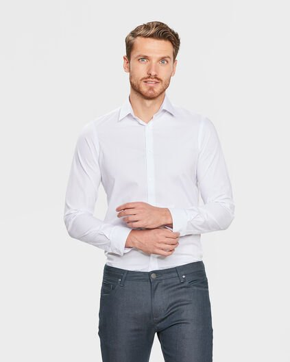 CHEMISE TALL FIT STRETCH HOMME Blanc