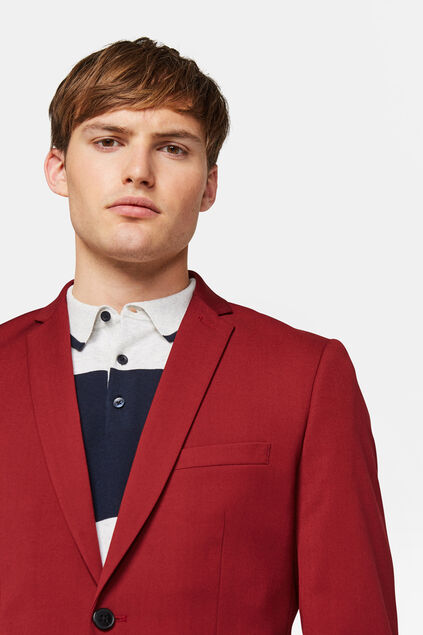 Blazer slim fit Dali homme Rouge