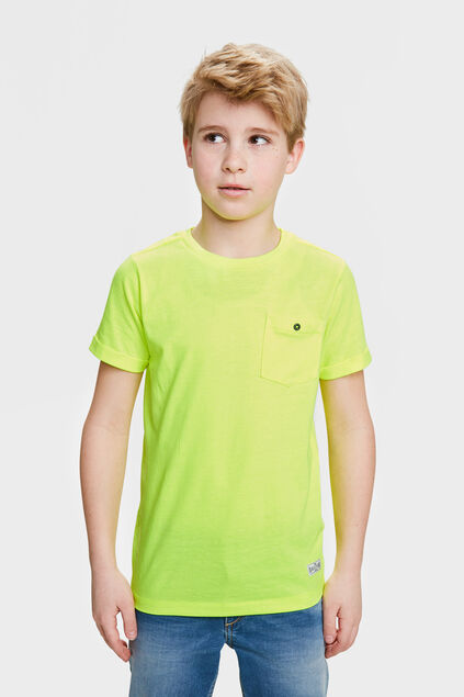 T-SHIRT ONE POCKET Jaune vif
