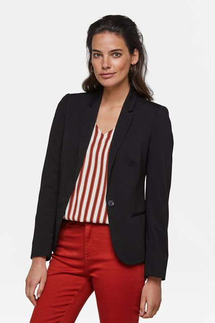 DAMEN-SLIM-FIT-BLAZER Schwarz