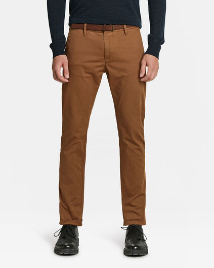 SLIM FIT PANTALON HOMME Brun Cannelle
