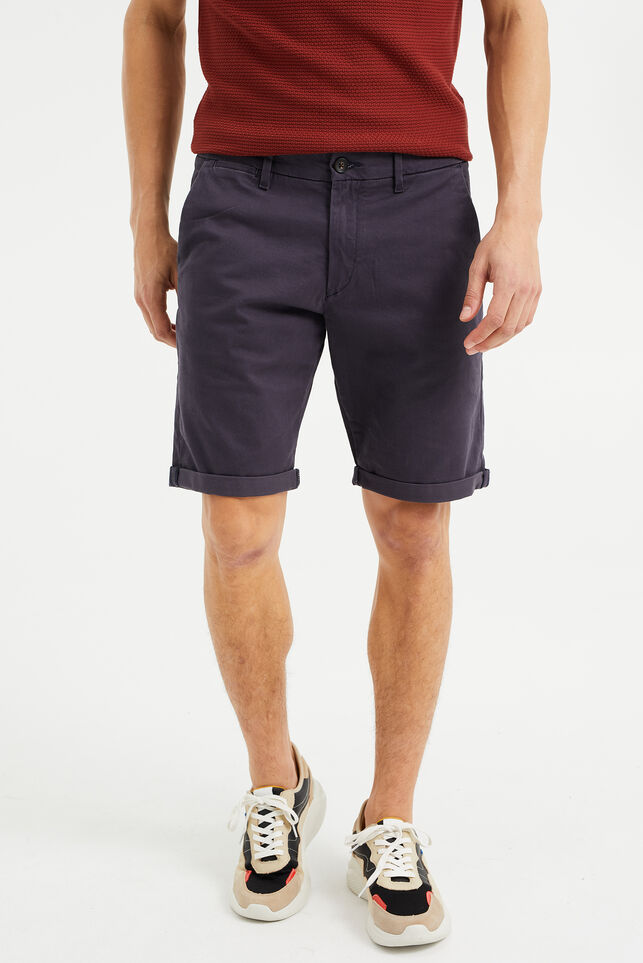 Short chino slim fit homme Bleu gris