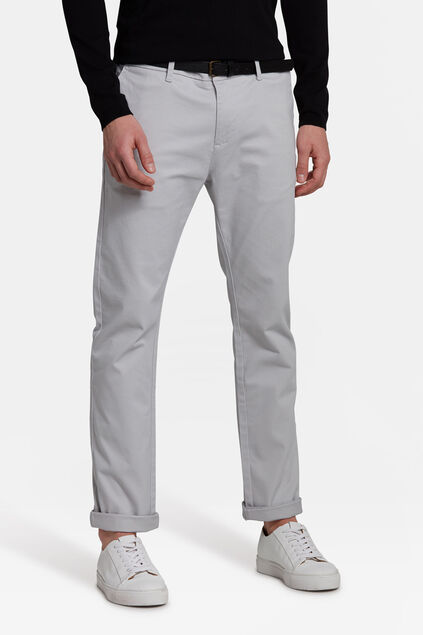 SLIM FIT PANTALON HOMME Gris clair