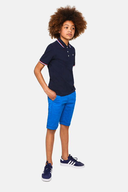 Short chino slim fit garçon Bleu