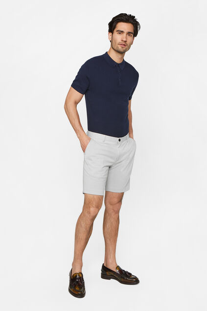 Short slim fit à motif homme Gris clair