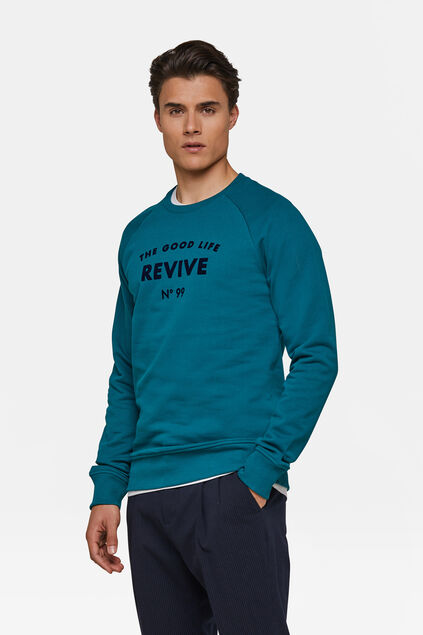 "Herren-Sweatshirt ""The Good Life"" Benzin"