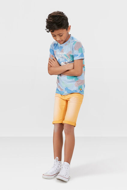 JUNGEN-JOG-DENIM-SHORTS IN GARMENT-DYE-OPTIK Orange