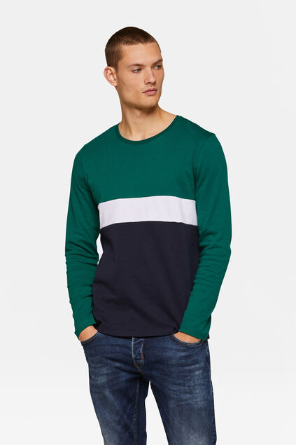 HERRENSHIRT IN COLOURBLOCK-OPTIK Grün