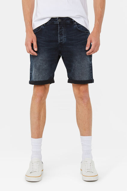 Short denim regular fit super stretch homme Bleu foncé
