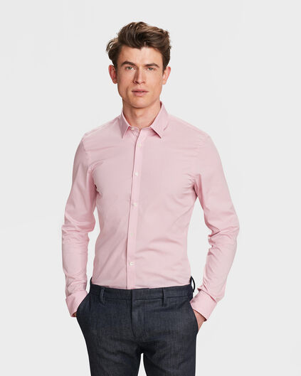 CHEMISE SLIM FIT STRETCH HOMME Rose