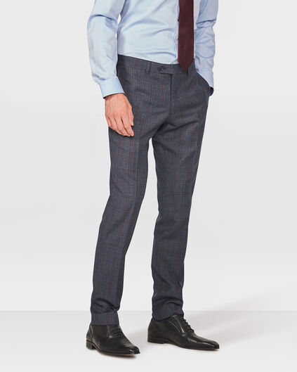 HEREN CHECKED SLIM FIT PANTALON DRONFIELD Dunkelblau