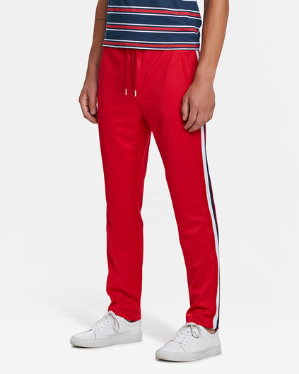 PANTALON DE JOGGING SKINNY TAPERED SPORTY STRIPE HOMME Rouge vif