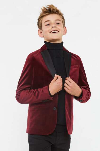 Blazer regular fit garçon Rouge