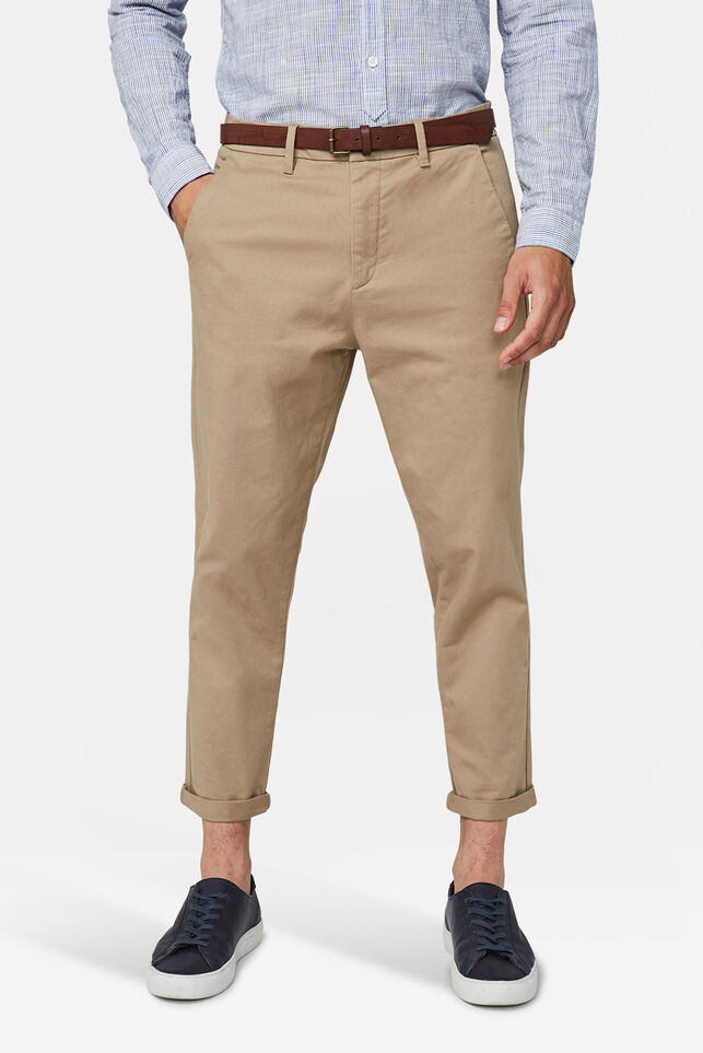 Chino loose tapered homme Brun