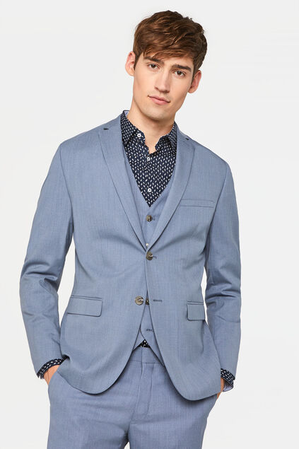 Blazer slim fit stretch Dali homme Bleu glace