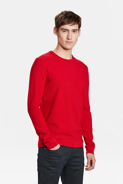 PULL STRUCTURE KNIT HOMME Rouge vif