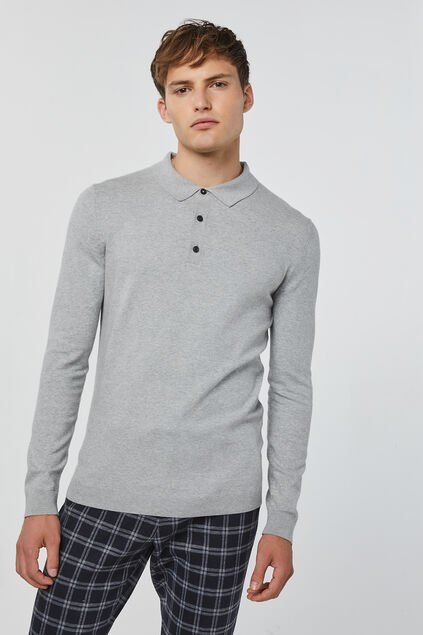 Pull polo homme Gris clair