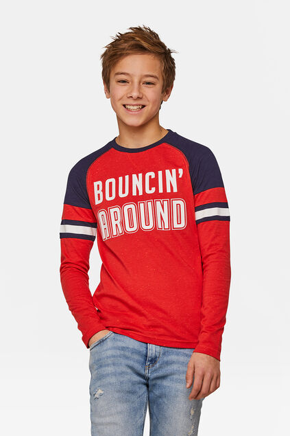 T-shirt Bouncin around garçon Rouge