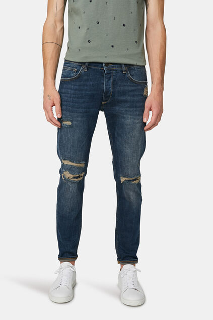 Jeans skinny tapered comfort stretch homme Bleu