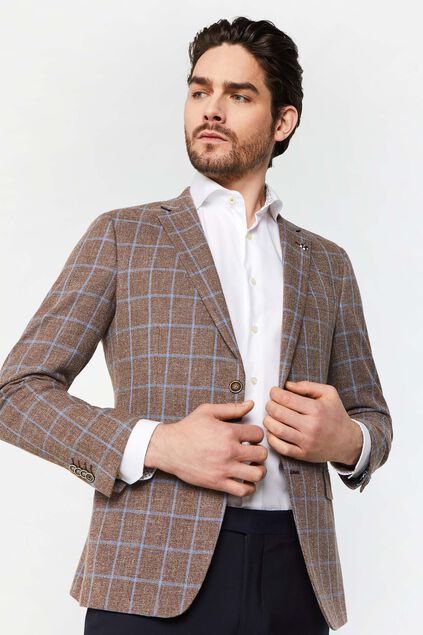 Blazer slim fit à carreaux Domenico homme Imprimé