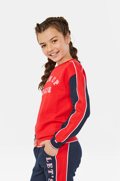 Sweat-shirt fille Rouge vif