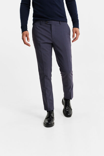 Pantalon slim fit à carreaux Wallace homme Multicolore