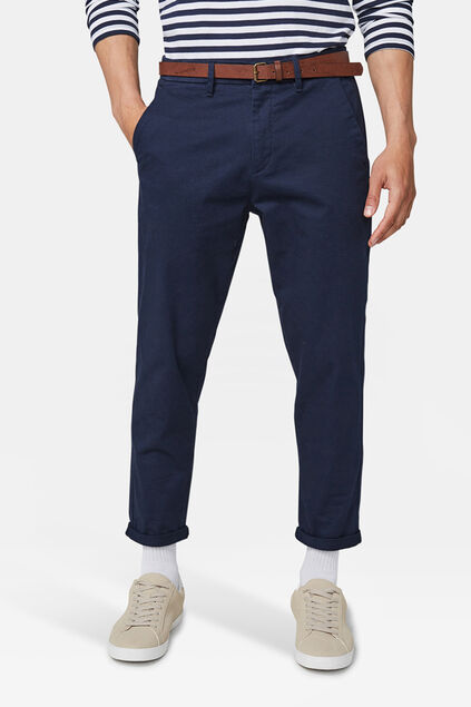 Herren-Loose-Fit-Chinos mit Tapered Leg Marineblau