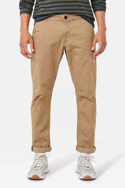Herren-Slim-Fit-Chinos mit Tapered Leg Beige