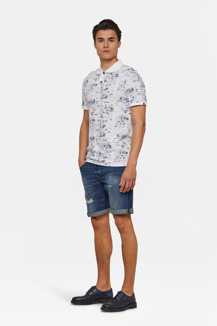 Short denim regular fit homme Bleu foncé