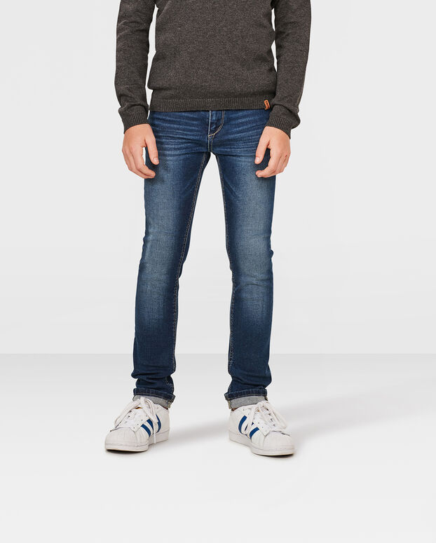 JUNGEN-SUPERSKINNY-POWER-STRETCH-JEANS Dunkelblau