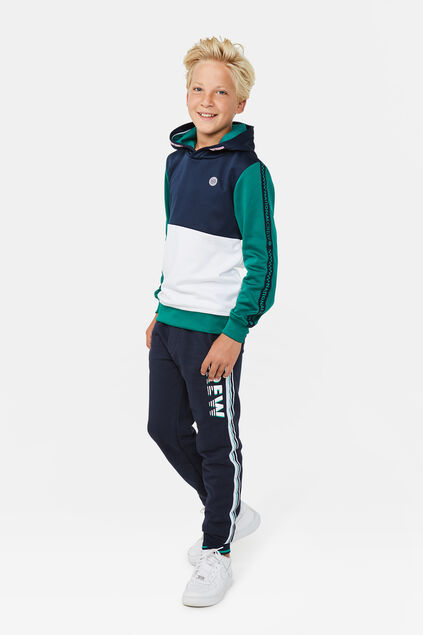 Jungen-Sweatshirt in Colourblock-Optik Dunkelgrün