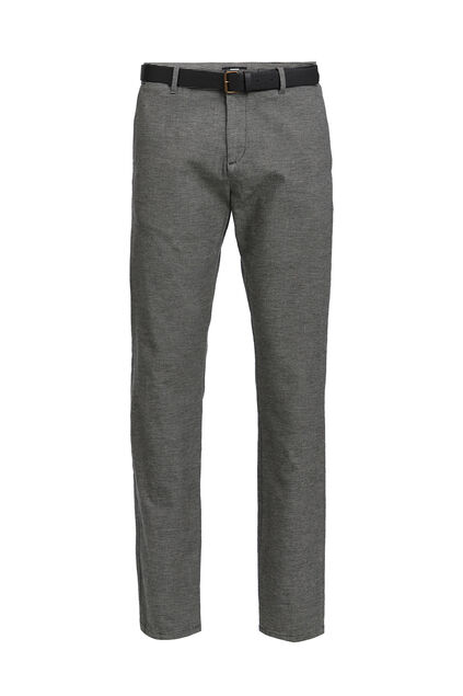 Herren-Slim-Fit-Chinos, gestreift Schwarz
