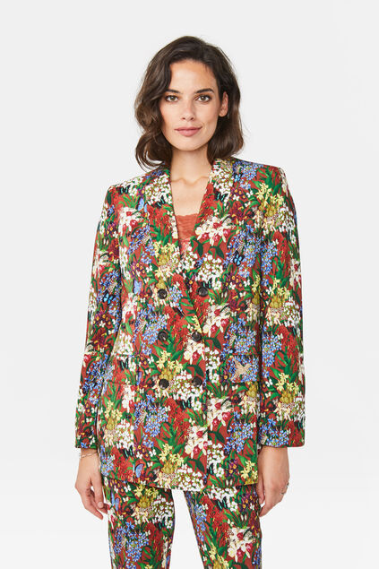 Damen-Regular-Fit-Blazer Mehrfarbig