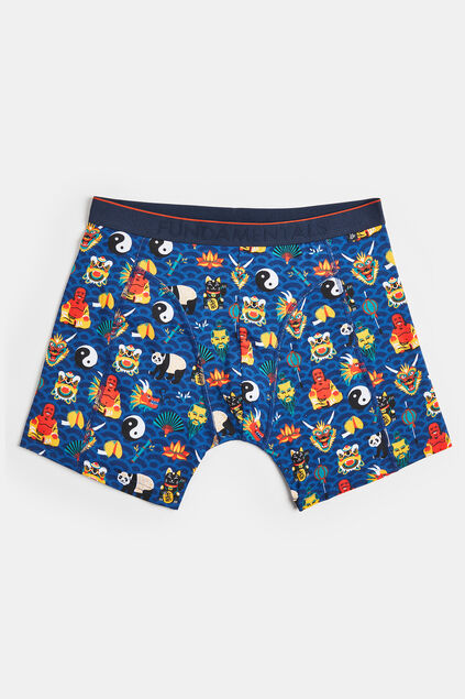 Boxer à motif China homme Multicolore