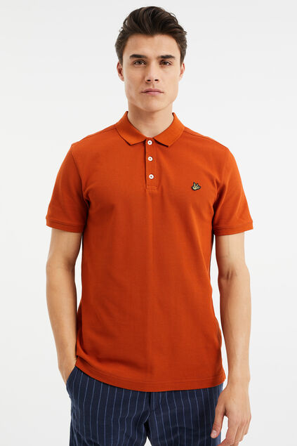 Polo homme Rouge safran