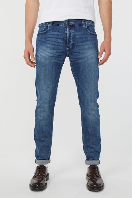 Jeans skinny tapered jog denim homme Bleu