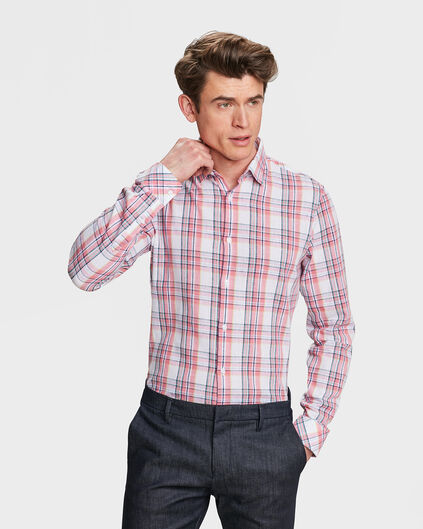 CHEMISE SLIM FIT CHECKED HOMME Rose clair