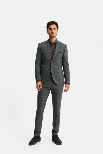 Costume slim fit à carreaux homme, Parson