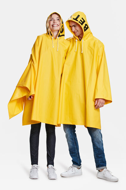 PONCHO BETTER TOGETHER DUO Jaune vif