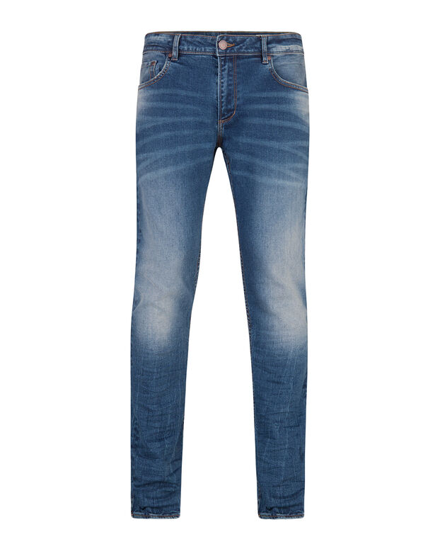 JOG DENIM SLIM TAPERED HOMME Bleu