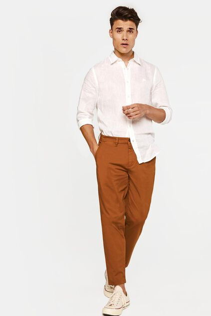 Chino loose fit homme Brun
