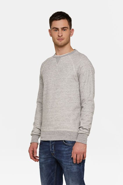 Pull chiné homme Gris