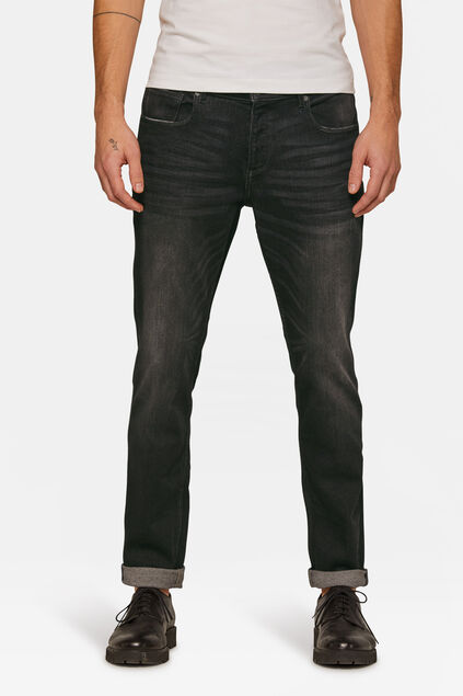Jeans slim tapered jog denim homme Noir