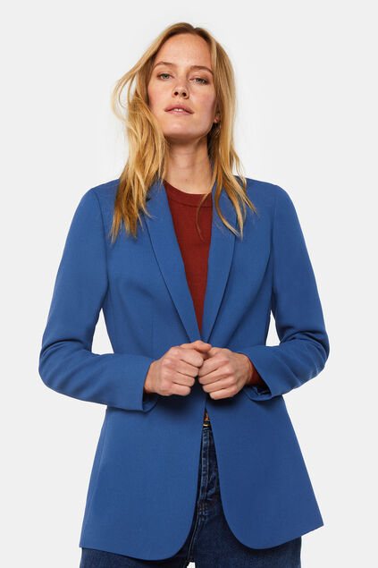 Blazer regular fit structuré femme Bleu