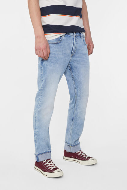 Jeans regular fit jog denim homme Bleu eclair