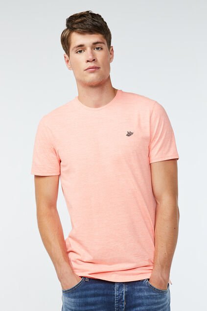 T-shirt néon homme Orange vif